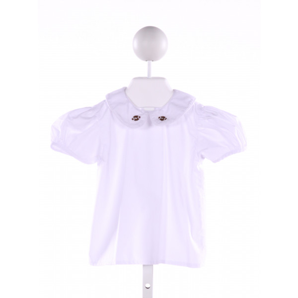 BENOIT & MATISSE  WHITE   EMBROIDERED CLOTH SS SHIRT