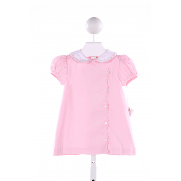 PIXIE LILY  PINK CORDUROY  EMBROIDERED DRESS