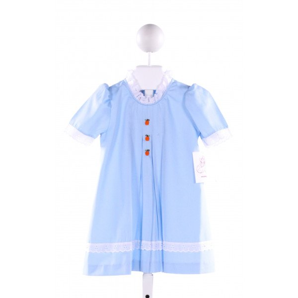 POSH PICKLE  LT BLUE   EMBROIDERED DRESS WITH EYELET TRIM