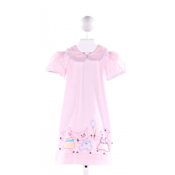 LULLABY SET  LT PINK   EMBROIDERED DRESS