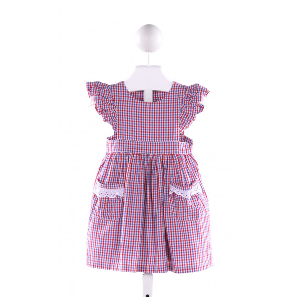 MARY & GRACE  MULTI-COLOR  PLAID  DRESS WITH RUFFLE