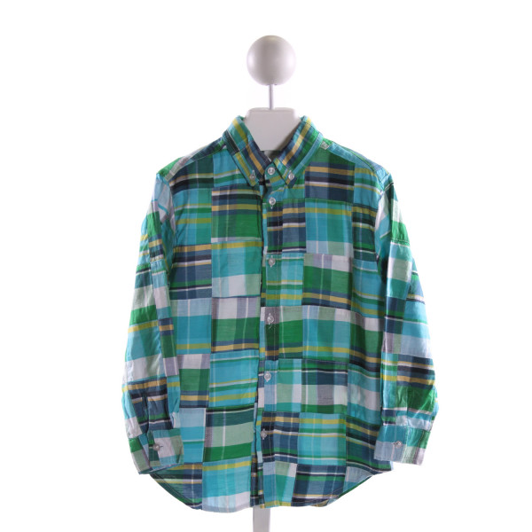 KELLY'S KIDS  MULTI-COLOR  PLAID  CLOTH LS SHIRT