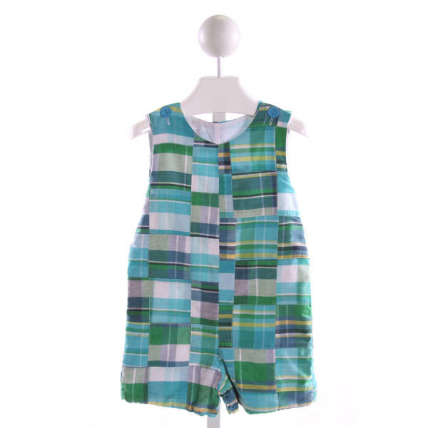 KELLY'S KIDS  MULTI-COLOR  PLAID  JOHN JOHN/ SHORTALL