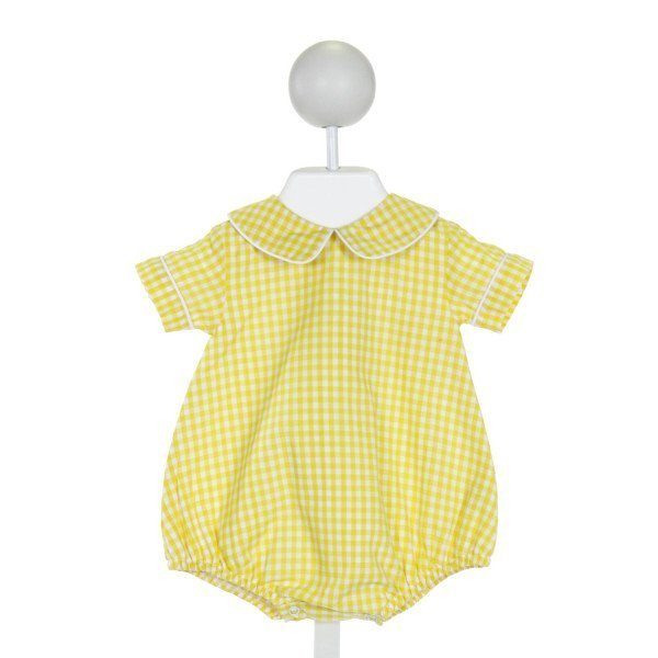 THE PROPER PEONY  BRIGHT YELLOW  GINGHAM  BUBBLE