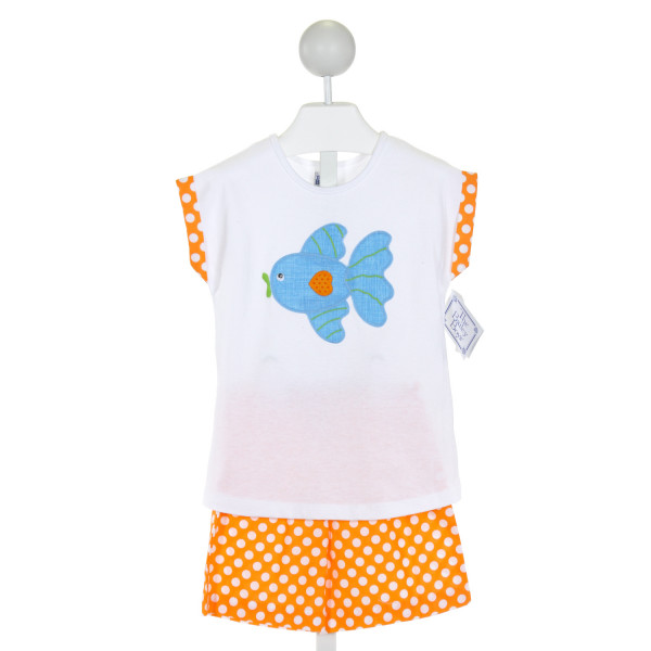 BAILEY BOYS  WHITE  POLKA DOT EMBROIDERED 2-PIECE OUTFIT
