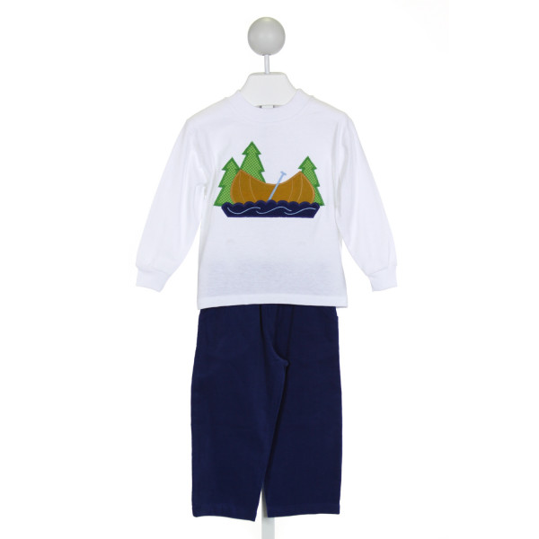 BAILEY BOYS  WHITE   EMBROIDERED 2-PIECE OUTFIT