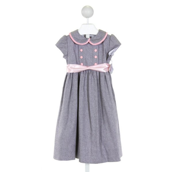 BAILEY BOYS  GRAY  STRIPED  DRESS WITH RUFFLE