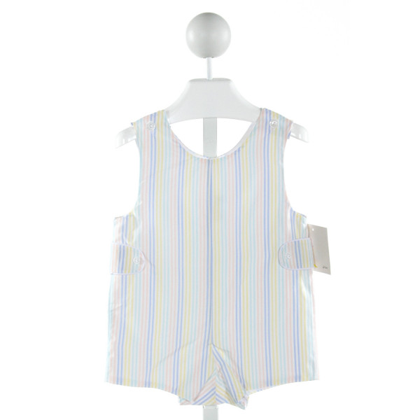 JAMES & LOTTIE  BLUE  STRIPED  JOHN JOHN/ SHORTALL