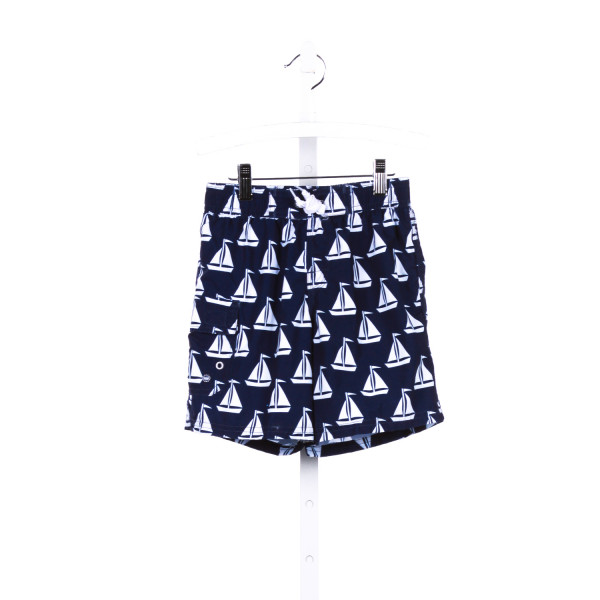WB NAVY AND WHITE ANCHOR PRINT SWIM TRUNKS *SIZE L RUNS LIKE A SIZE 7