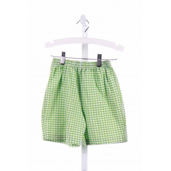 COTTON BLU  GREEN  GINGHAM  SHORTS