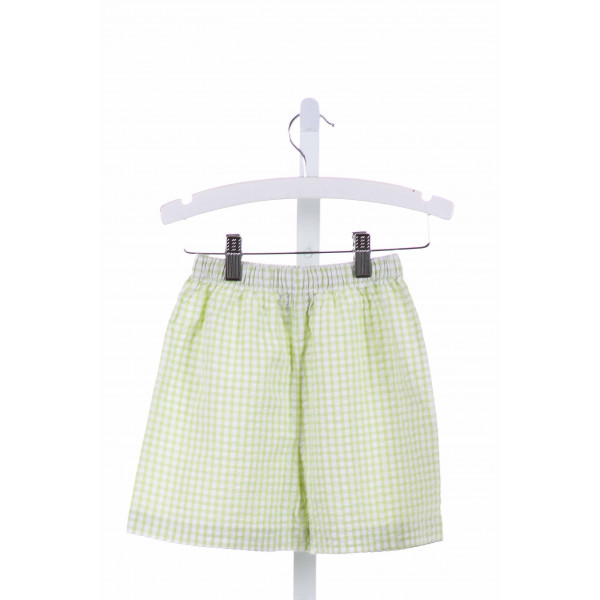 SHRIMP & GRITS  LIME GREEN SEERSUCKER GINGHAM  SHORTS