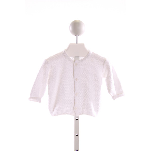 PATY, INC  WHITE   SMOCKED CARDIGAN