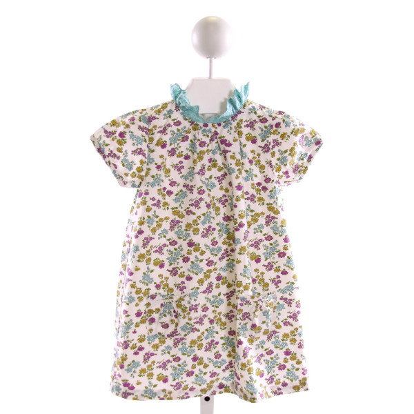 BABY BODEN  MULTI-COLOR  FLORAL  DRESS WITH RUFFLE