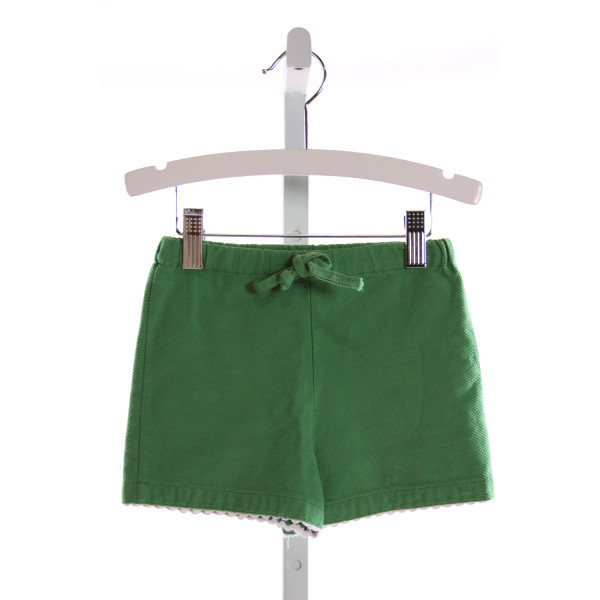 KAYCE HUGHES  GREEN PIQUE   SHORTS WITH RIC RAC