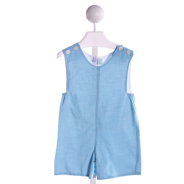 THE PLANTATION SHOP  LT BLUE  GINGHAM  JOHN JOHN/ SHORTALL
