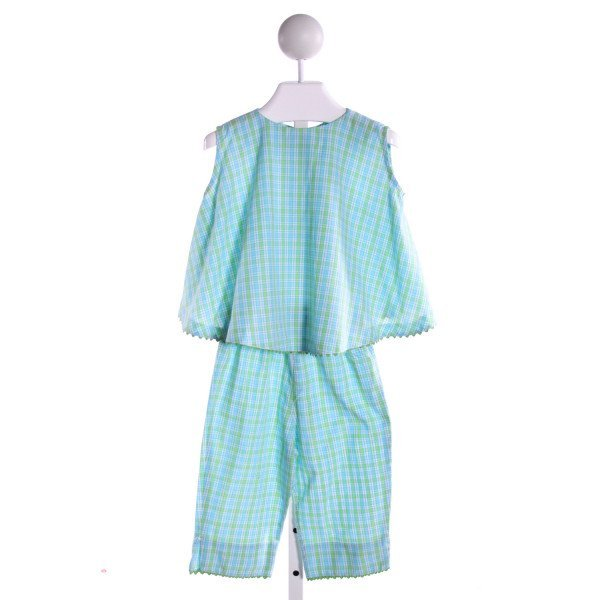 AMANDA REMEMBERED  MULTI-COLOR  PLAID  2-PIECE OUTFIT WITH RIC RAC