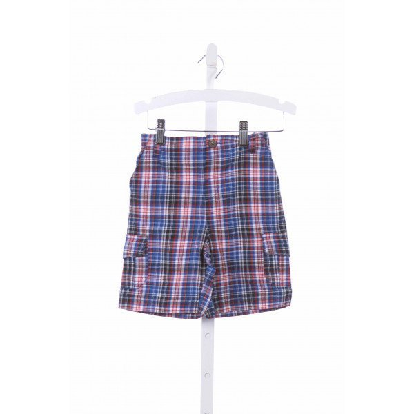 JOJO MAMAN BEBE  ROYAL BLUE  PLAID  SHORTS