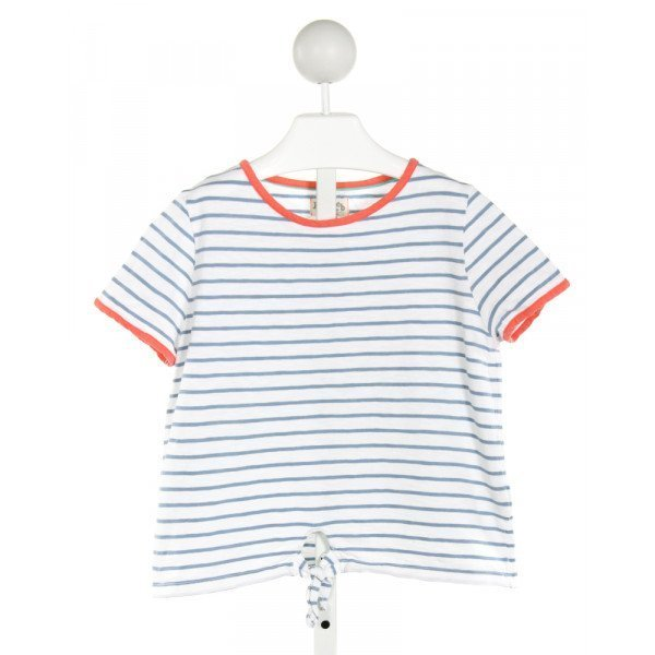 JOHNNIE-B  LT BLUE  STRIPED  T-SHIRT
