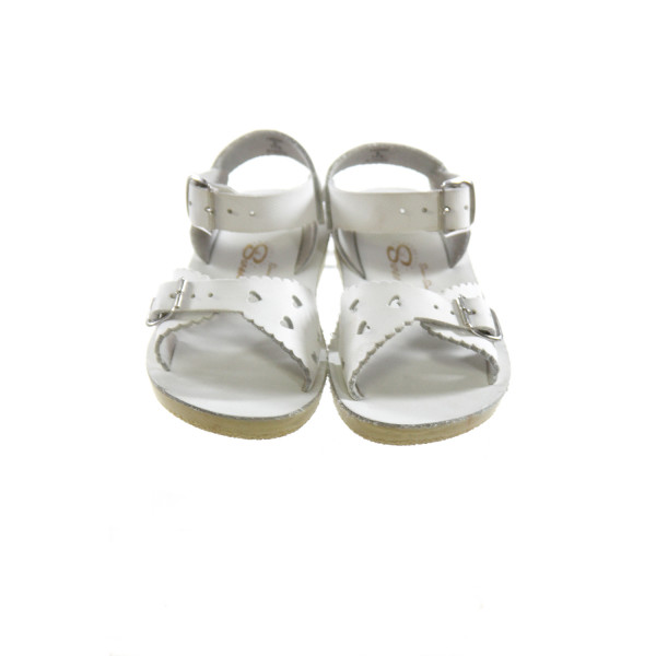 WHITE SUN SANS/ SALTWATER SANDALS *SIZE 6, VGU - SPOTS OF DISCOLORATION AND VERY LIGHT SCUFFING