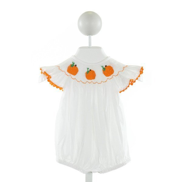 NOLA SMOCKED   OFF-WHITE   SMOCKED BUBBLE WITH RIC RAC