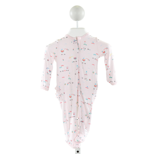 ANGEL DEAR  LT PINK   PRINTED DESIGN LAYETTE WITH RUFFLE