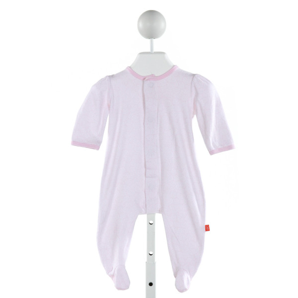 MAGNIFICENT BABY  LT PINK   PRINTED DESIGN LAYETTE