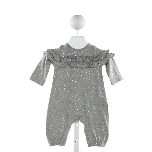PEEK  GRAY  POLKA DOT  LAYETTE WITH RUFFLE
