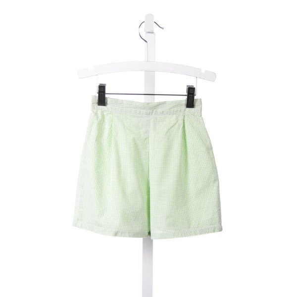 MARY & GRACE GREEN TATTERSALL SHORTS