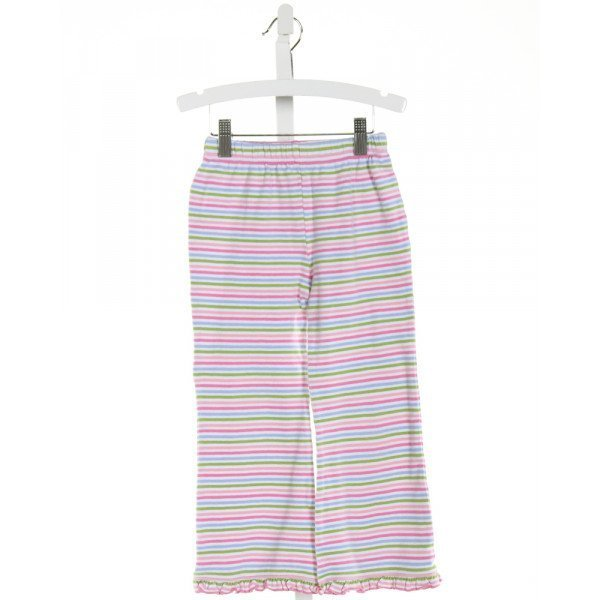 STITCHY FISH  PINK  STRIPED  PANTS WITH RUFFLE