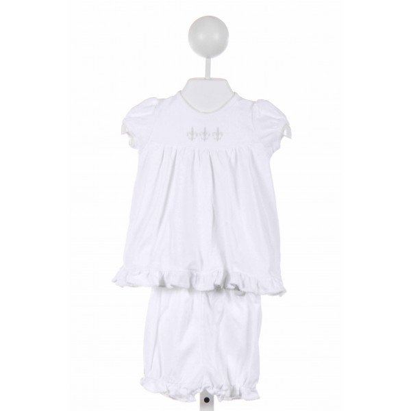 PIPPEN LANE  WHITE   EMBROIDERED 2-PIECE OUTFIT