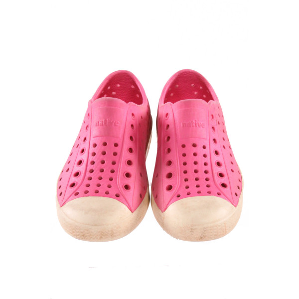 NATIVES PINK SHOES *SIZE 11, VGU - DISCOLORATION