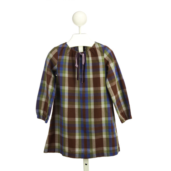 OLIVE JUICE PURPLE AND BLUE PLAID DRESS