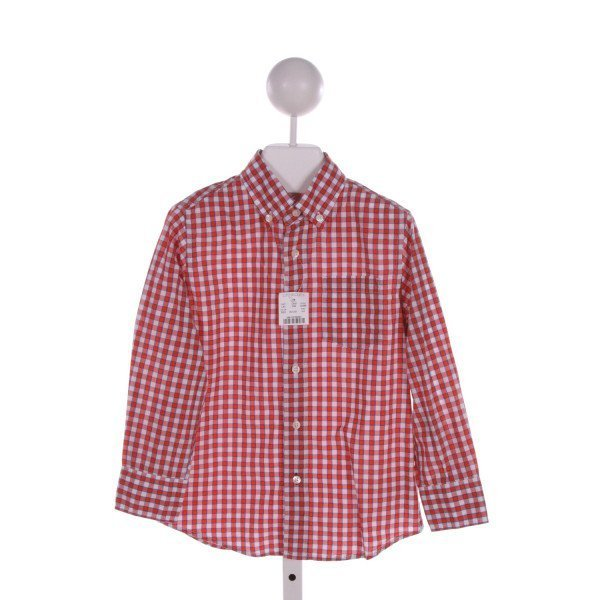 CREWCUTS FACTORY  ORANGE  PLAID  CLOTH LS SHIRT
