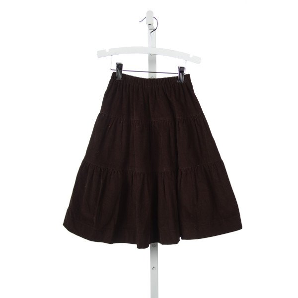 JEANINE JOHNSEN BROWN CORD PEASANT SKIRT