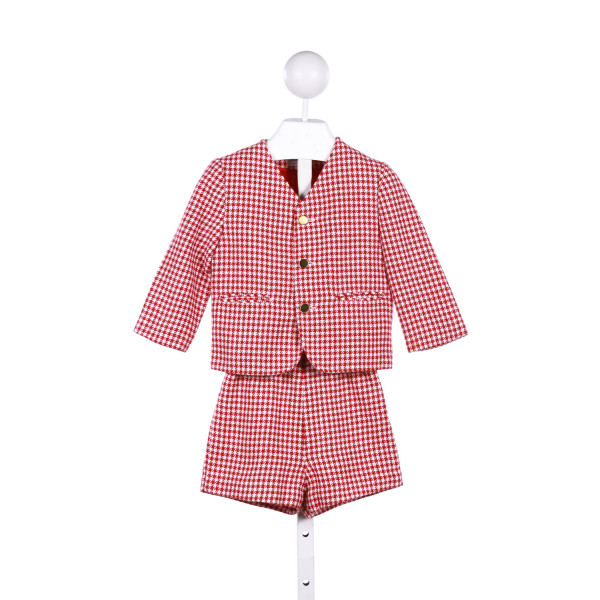IMP  RED  HOUNDSTOOTH  2-PIECE OUTFIT
