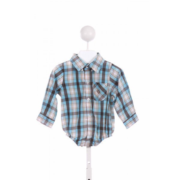 ANDY & EVAN  BLUE  PLAID  CLOTH LS SHIRT