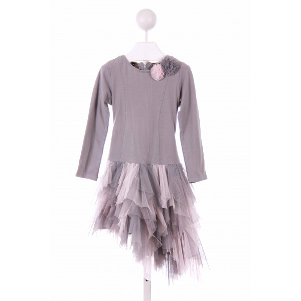 KATE MACK  GRAY    CASUAL DRESS WITH TULLE