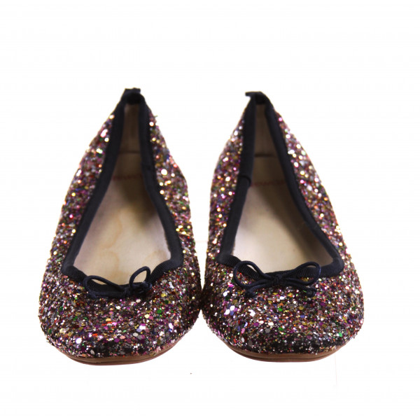CREWCUTS MULTI-COLOR SPARKLY SHOES *SIZE 3, VGU - VERY MINOR SCUFFING ON TOE