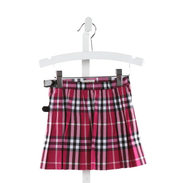 BURBERRY  HOT PINK  PLAID  SKIRT