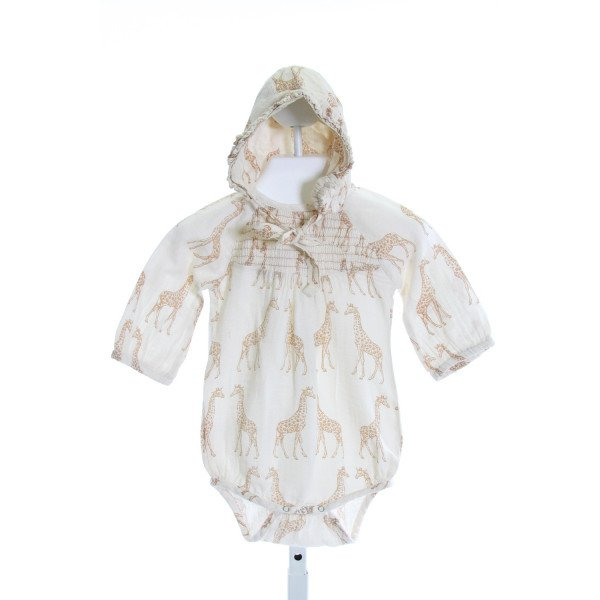 KATE QUINN  BROWN  PRINT SMOCKED LAYETTE