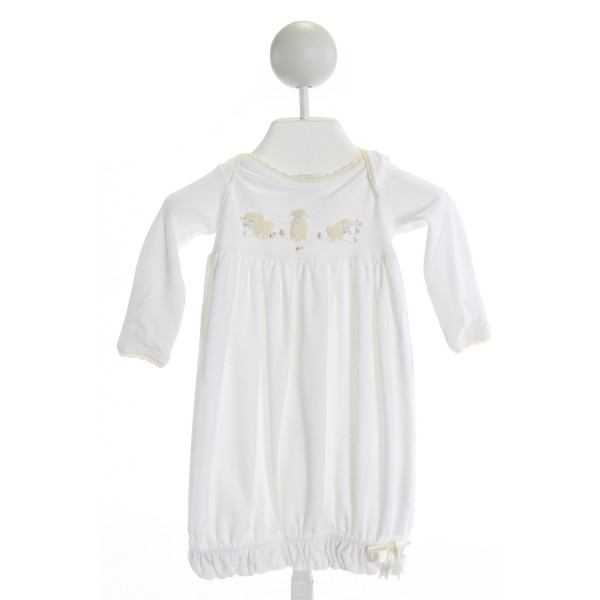 SQUIGGLES  OFF-WHITE   EMBROIDERED LAYETTE WITH PICOT STITCHING
