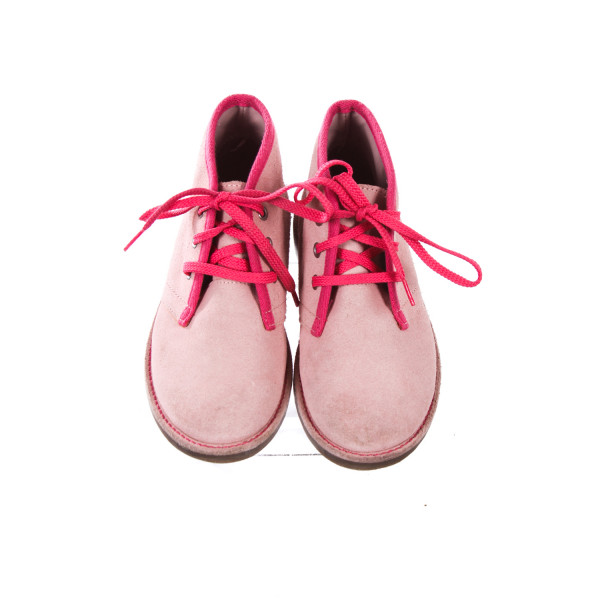 LANDS END PINK SUEDE BOOTIES TODDLER SIZE 13