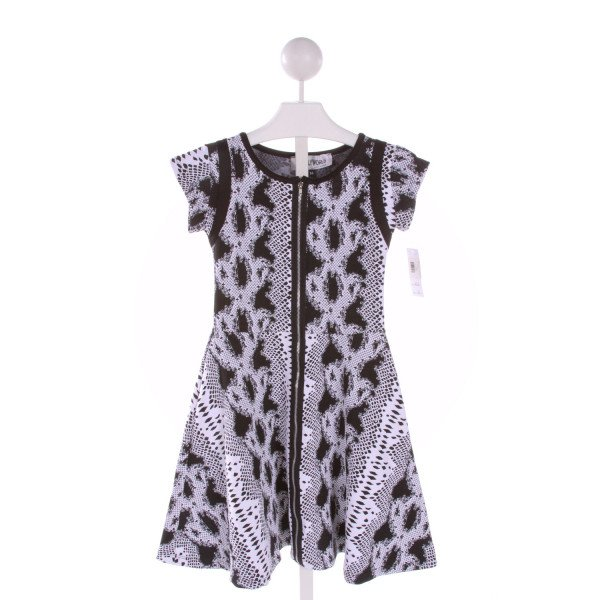 HOLLYWORLD  BLACK   PRINTED DESIGN PARTY DRESS