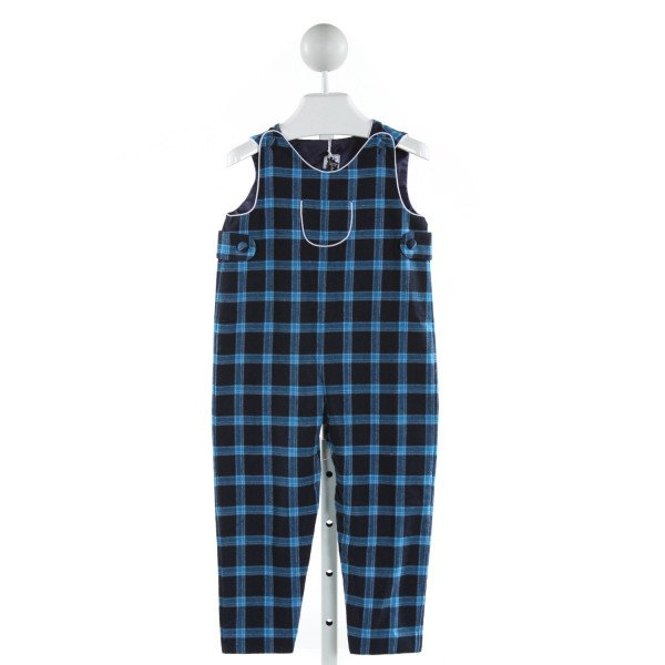 BUSY BEES  BLUE COTTON PLAID  LONGALL/ROMPER