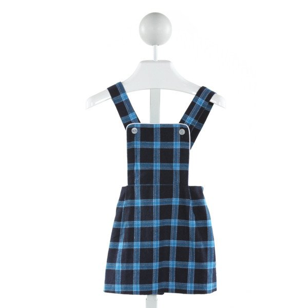 BUSY BEES  BLUE  PLAID  SKIRT