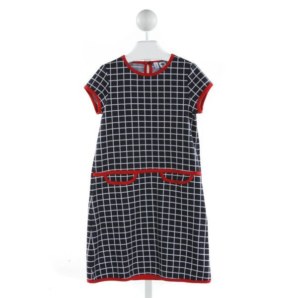 BUSY BEES  NAVY  CHECK  DRESS