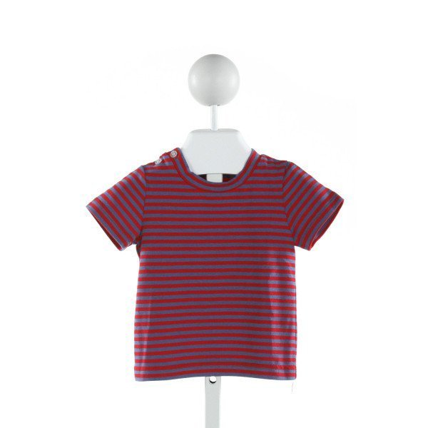 BUSY BEES  BLUE  STRIPED  KNIT SS SHIRT
