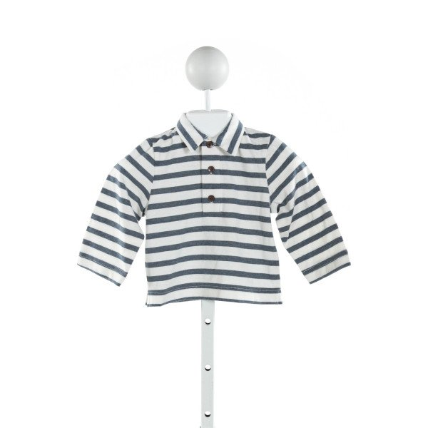 BUSY BEES  BLUE  STRIPED  KNIT LS SHIRT