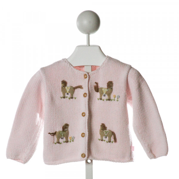 BELLA BLISS  LT PINK   EMBROIDERED SWEATER