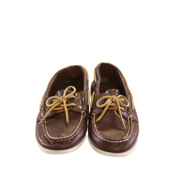 SPERRY BROWN LOAFERS *SIZE 1.5, VGU - SOME SMALL SPOTS